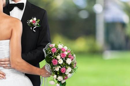 結婚式。 写真素材