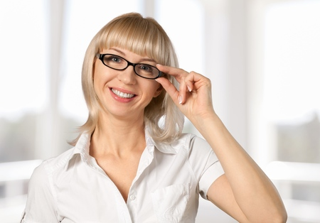woman  glasses: Optometrist.