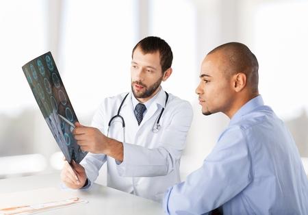 the doctor: Paciente. Foto de archivo