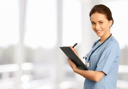 nurse clipboard: Nurse.