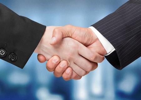 black business men: Handshake. Stock Photo