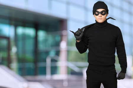 dishonesty: Burglar. Stock Photo