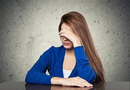 relationship problems: Depressed. Stock Photo