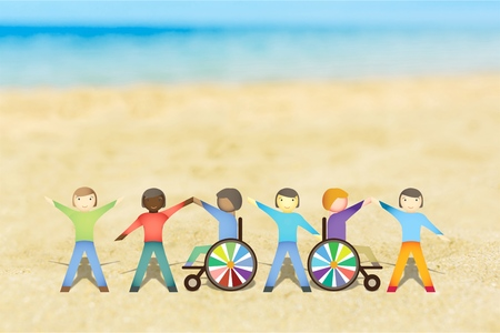 community people: Disabled. Stock Photo