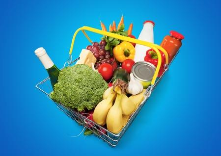 filled: Basket. Stock Photo