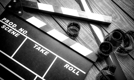 roll film: Film. Foto de archivo