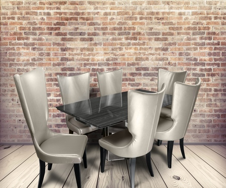 dining room: Dining Room. Stock Photo