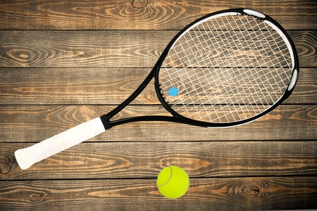 tennis racket: Tennis Racket. Stock Photo