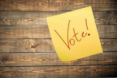 voting: Voting. Stock Photo