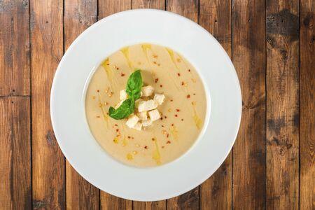 pumpkin soup: Soup. Stock Photo