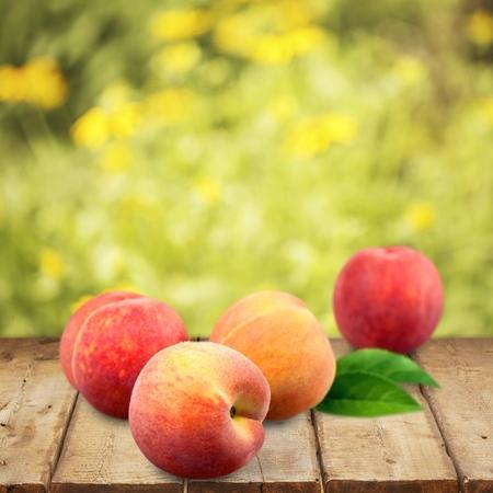 durazno: Peach. Foto de archivo