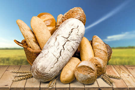 eating pastry: Bread. Stock Photo