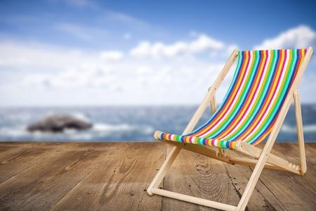 deckchair: Deckchair. Stock Photo