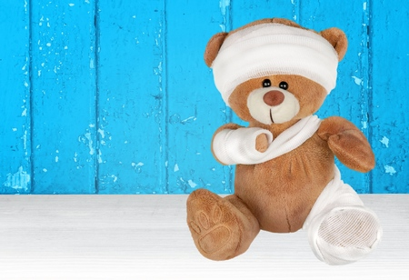 medical dressing: Teddy Bear.