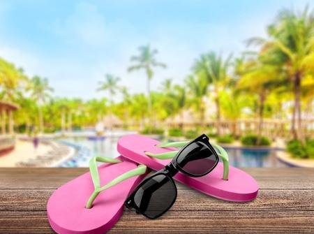 accessorize: Flip-flop. Stock Photo