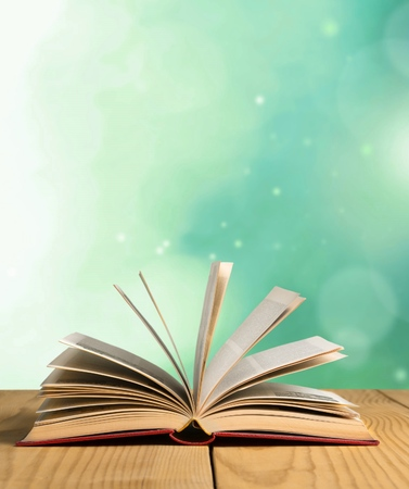 libro abierto: Libro. Foto de archivo