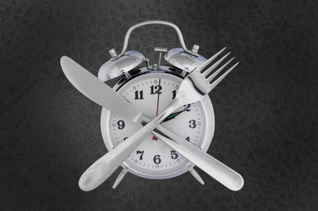 12 o'clock: Lunch. Stock Photo