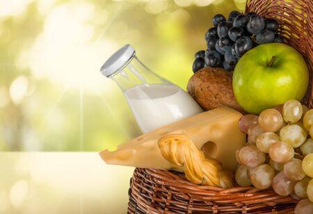 corbeille de fruits: Panier. Banque d'images