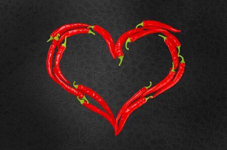heart heat: Chili Pepper. Stock Photo