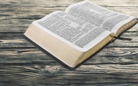 reading bible: Bible. Stock Photo