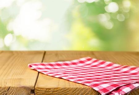 picnic cloth: Checked.