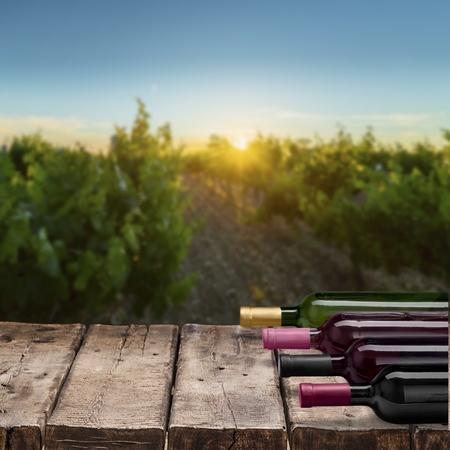 redwine: Wine Bottle. Stock Photo