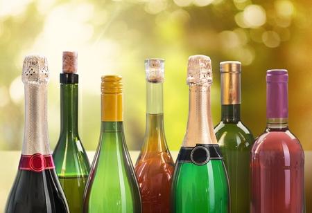 beer bottle: Wine. Stock Photo