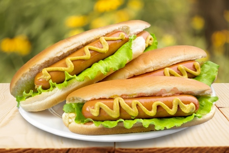 lunch tray: Hot Dog.