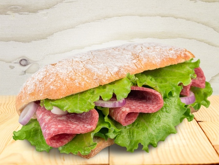 eating pastry: Sandwich. Stock Photo