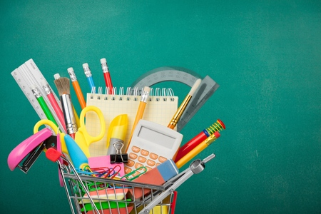 back to school supplies: Education. Stock Photo