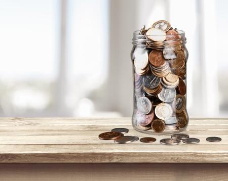 saving tips: Jar. Stock Photo