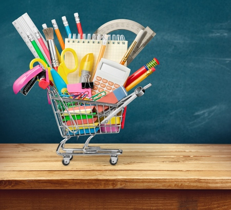 shopping cart: Education. Stock Photo