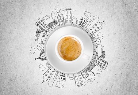 filiżanka kawy: Kawa. Zdjęcie Seryjne