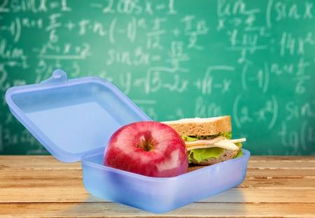 niño escuela: Caja de almuerzo.