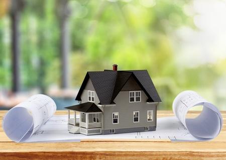 zakelijk: Huiseigenaar. Stockfoto