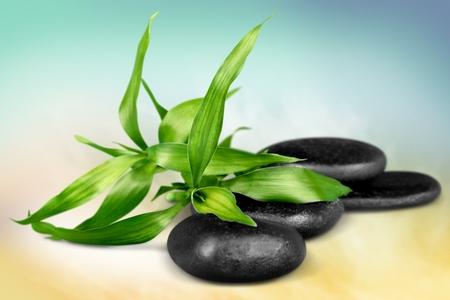 black stones: Spa.