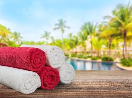 five objects: Towel.