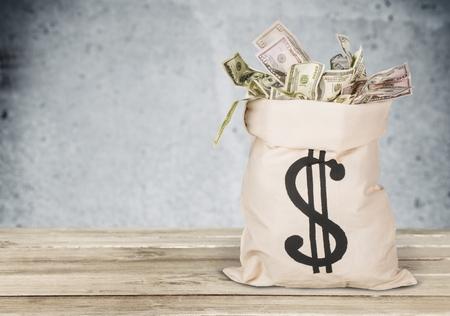 prosperidad: Bolsa de dinero.