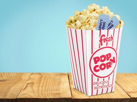 movie ticket: Popcorn.
