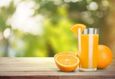 Jugo de naranja. Foto de archivo