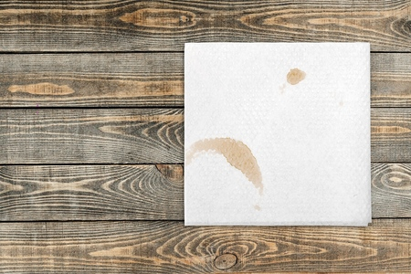 cup of coffee: Napkin.