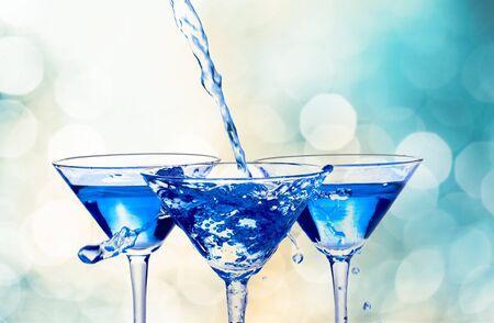 martini splash: Martini. Stock Photo