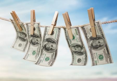 argent: Blanchiment d'argent. Banque d'images