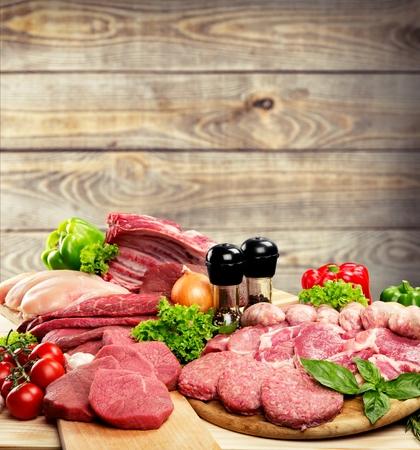 meat steak: Meat.