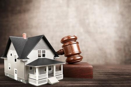 housing sales: Auction. Stock Photo