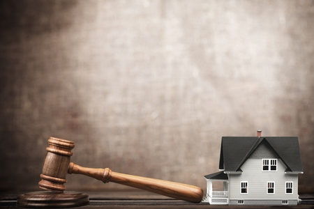 law business: Auction. Stock Photo