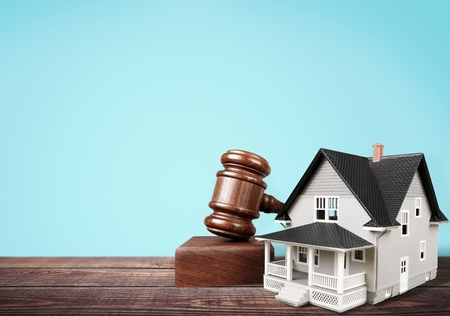 housing crisis: Auction. Stock Photo