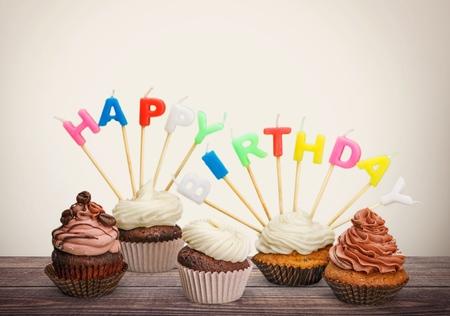 cupcakes isolated: Birthday.