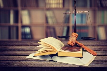 derecho penal: Ley. Foto de archivo