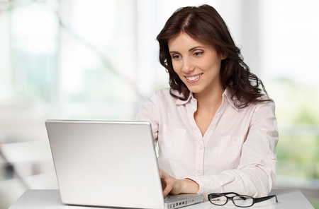 person computer: Laptop. Stock Photo